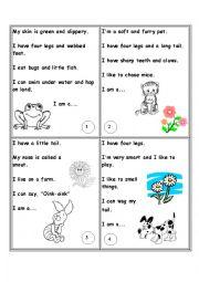 English Worksheet: animals riddles part 1