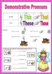 English Worksheet: Demonstrative Pronouns