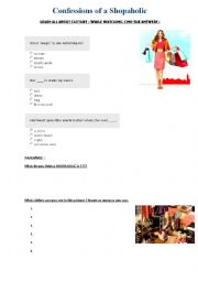 Confessions of a Shopaholic - worksheet