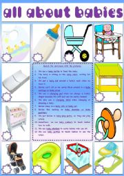 English Worksheet: All About Babies