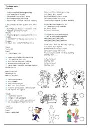 English Worksheet: Music The Lazy Song - Bruno Mars