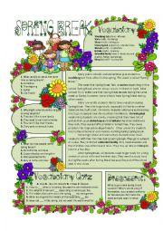English Worksheet: Spring Break