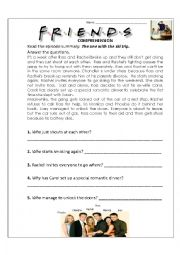 English Worksheet: The one with the ski trip
