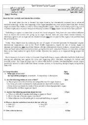 English worksheet: Organs´sales