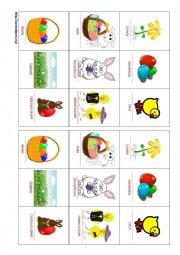 English Worksheet: Easter Go Fish Card Game (have/have got)