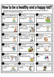 English Worksheet: SHOULD/SHOULDN´T -CHILDREN ACTIONS