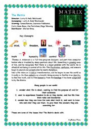 English Worksheet: The Matrix Plot Overview