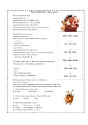 English Worksheet: Timon and Pumba - Stand by me