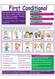 English Worksheet: CHILDREN AND FIRST CONDITIONAL