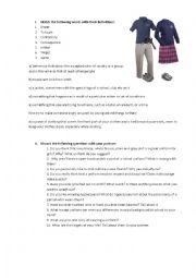 English Worksheet: Uniform