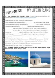 English Worksheet: Greece Travel Video