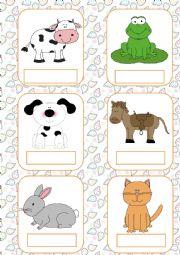 English Worksheet: Animals flashcards (part 1)