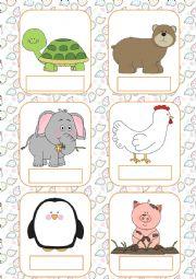 English Worksheet: Animals flashcards (part 2)
