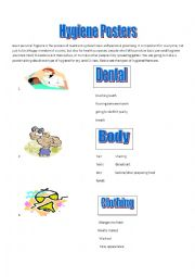 English Worksheet: Personal Hygiene Posters