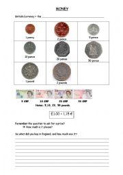English Worksheet: BRITISH MONEY