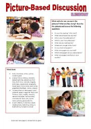 English Worksheet: Picture-based discussion Elementary - (20) - Entertainment 3. - Books and newspapers