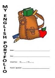 English Worksheet: My Portfolio Cover Page