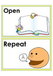English Worksheet: Classroom Language and Commands 2