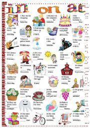 English Worksheet: in on at-prepositions of time