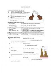 English Worksheet: Easter Idioms