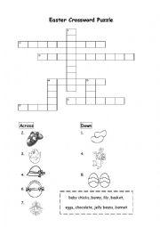 English Worksheet: Easter Crossword Puzzle