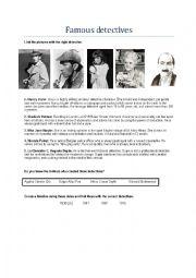 English Worksheet: Famous detectives