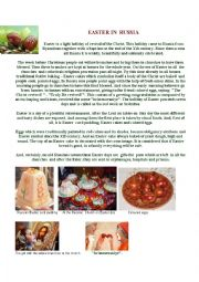 English Worksheet: Easter in Russia