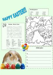 English Worksheet: Easter Activities