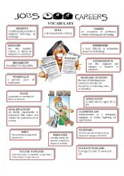 English Worksheet: JOBS AND CAREERS