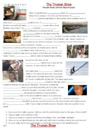 english worksheets passive voice with the truman show film. Black Bedroom Furniture Sets. Home Design Ideas