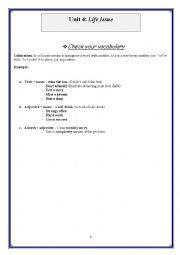 English Worksheet: unit 4: bac arts revision