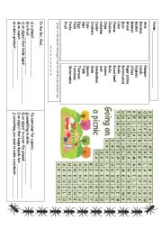 English Worksheet: Going on a picnic
