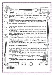 English Worksheet: End of term test 2 8th form. part 1 (Text & Reading comprehension)