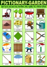 English Worksheet: Garden Pictionary