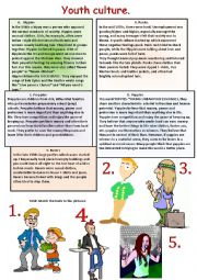 English Worksheet: Teenagers� world. Reading-comprehnsion.