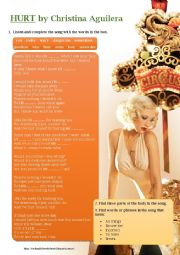 English Worksheet: Hurt by Christina Aguilera