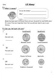 English Worksheet: currency teaching