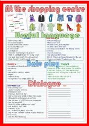 English Worksheet: at the shopping centre