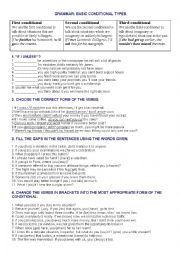 English Worksheet: MIXED CONDITIONAL TYPES PRACTICE