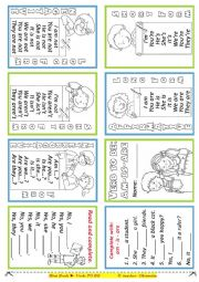 English Worksheet: mini - book: TO BE