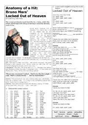 English Worksheet: Locked Out of Heaven by Bruno Mars