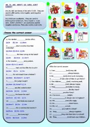 English Worksheet: IS, ISN�T, ARE, AREN�T, DO, DOES, DON�T, DOESN�T