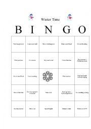 English Worksheet: Find Someone Who Bingo