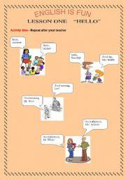 English Worksheets: English is fun