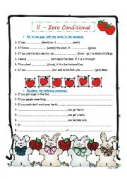 English Worksheet: If - Zero Conditional