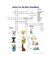 English Worksheet: Easter vocabulary crosswords