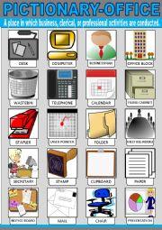 English Worksheet: Office Pictionary