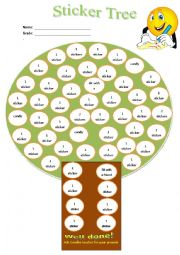 Sticker Tree Award system