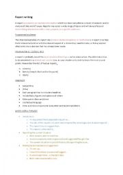 English Worksheet: Report writing for FCE and other exams