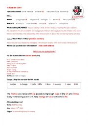 English Worksheet: RED NOSE DAY  March 15th 2013